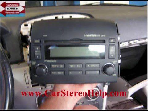 Hyundai Sonata Stereo Removal - YouTube