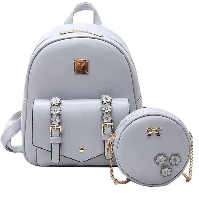 Women/'s Small Mini Faux Leather Backpack Rucksack Daypack Chain Purse Cute bag