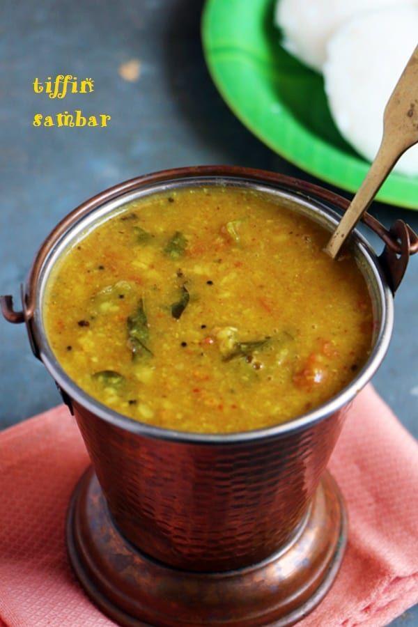 Idli sambar: One flavorful and tasty sambar to serve with south Indian breakfast!  More sambar recipes: https://www.cookclickndevour.com/category/kuzhambu-sambar-recipes