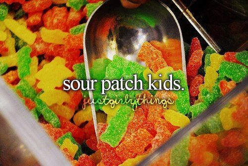 Sour Patch Kids, are my friends and my own life. We literally eat them like everyday. It's what motivates us through bad school days. :)