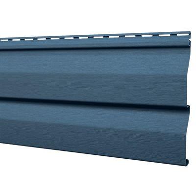 Mitten Sentry 9-in x 144.9-in Regatta Blue Double 4.5 Dutch Lap Vinyl Siding Panel