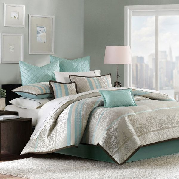 Paige 12-Piece Bedding Superset - Bed Bath & Beyond..... I LOVE this!!!: Bedrooms Decoration,  Comforters, Guest Bedrooms, Bedrooms Sets, Master Bedrooms, Bedrooms Idea, Beds Sets, Beaches Bedrooms, Comforters Sets