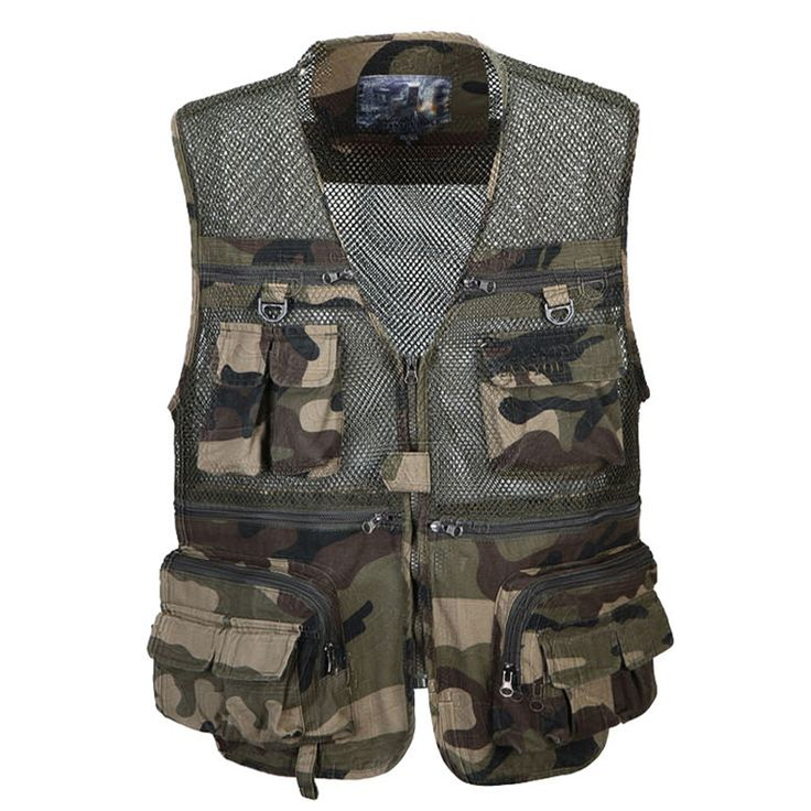>> Click to Buy << High Quality Military Men Vests For Sale Bape Clothing Muti Pocket Mesh Mens Vest Casual Camouflage Cargo Tactical Vests S953 #Affiliate