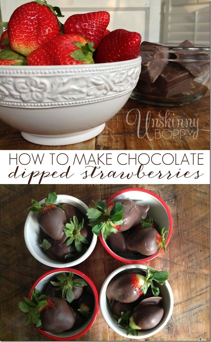 how to make easy chocolate dipped strawberries best desserts pinterest chocolate. Black Bedroom Furniture Sets. Home Design Ideas