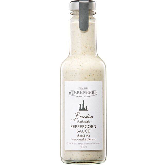 "Peppercorn Sauce is as thick and creamy as they come. Packed full of pint sized peppercorns that will make any dish create a tornado of flavour in your mouth. Brendan always did say it was the ""best condiment ever!"" http://bit.ly/2djXXXC #Beerenberg #BeerenbergFarm #PeppercornSauce #AustralianMade #ichooseSA"