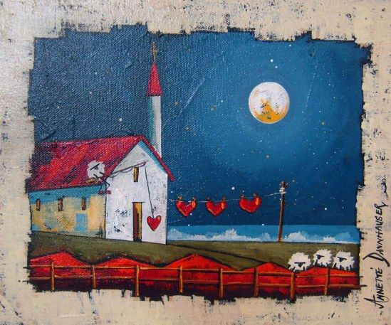Annette Dannhauser - Washing With Love (300 x 250) (SOLD)