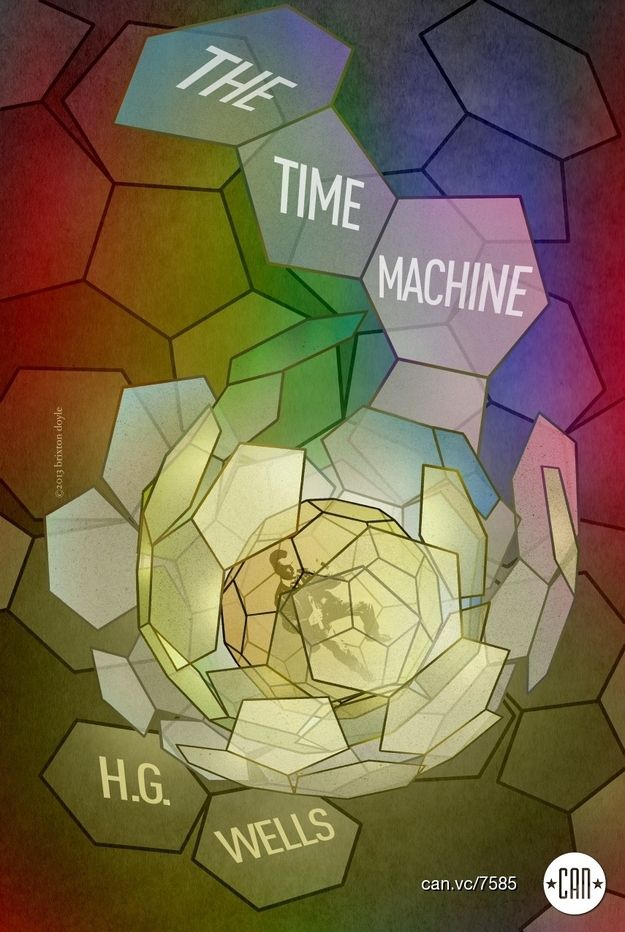 The Time Machine | 25 Beautifully Redesigned Classic Book Covers
