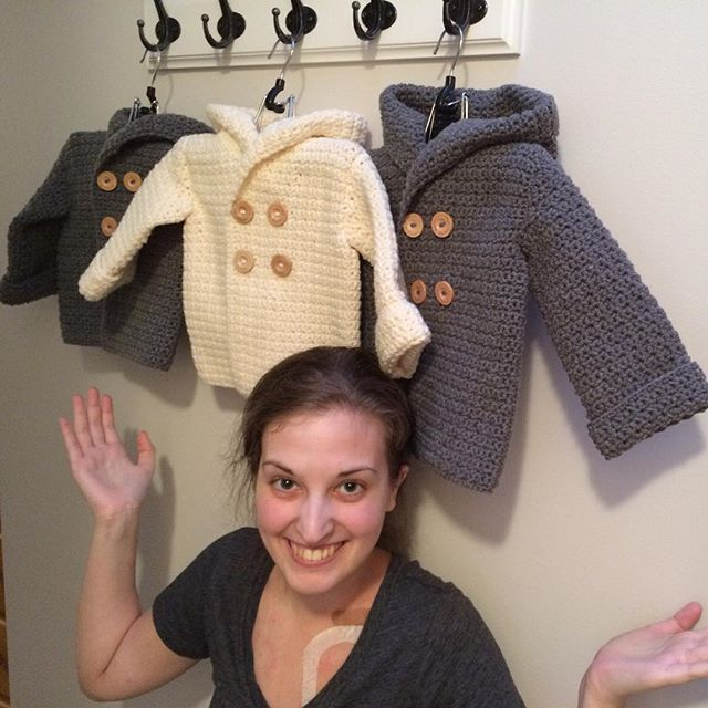 carefulcatherine crochet pea coats