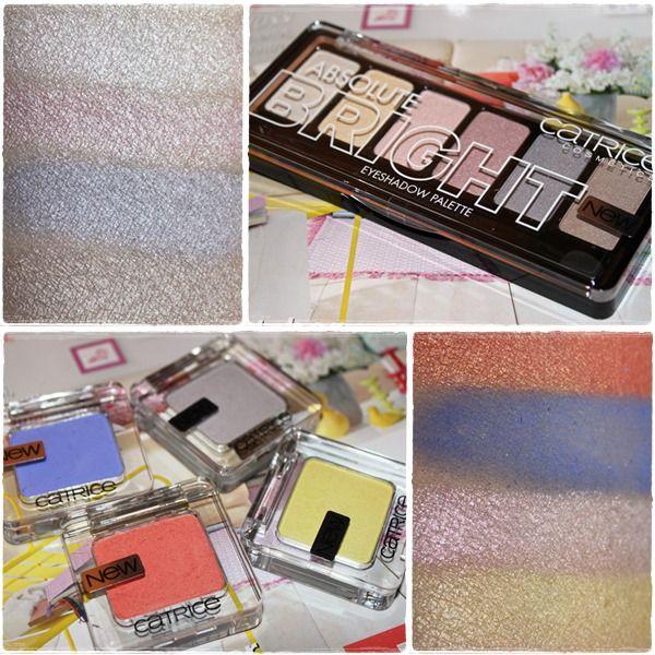 Catrice Absolute Bright Eyeshadow Palette in 010 Candy Warhol & Catrice Monos http://www.talasia.de/2014/02/20/swatches-catrice-lidschatten-neuheiten/