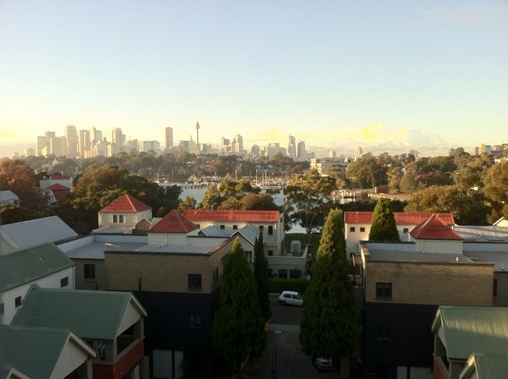 View looking east towards Sydney CBD.