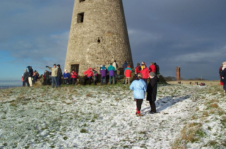 Many people enjoy a Wintery walk in Cleadon Village and the surrounding areas in South Tyneside.
