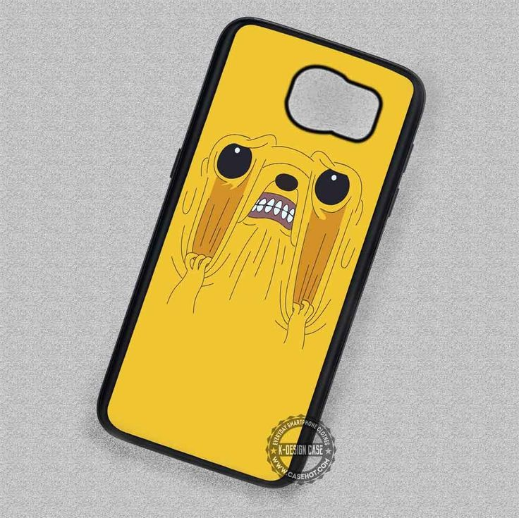 Frustrated Funny Face Jake Adventure Time - Samsung Galaxy S7 S6 S5 Note 7 Cases & Covers