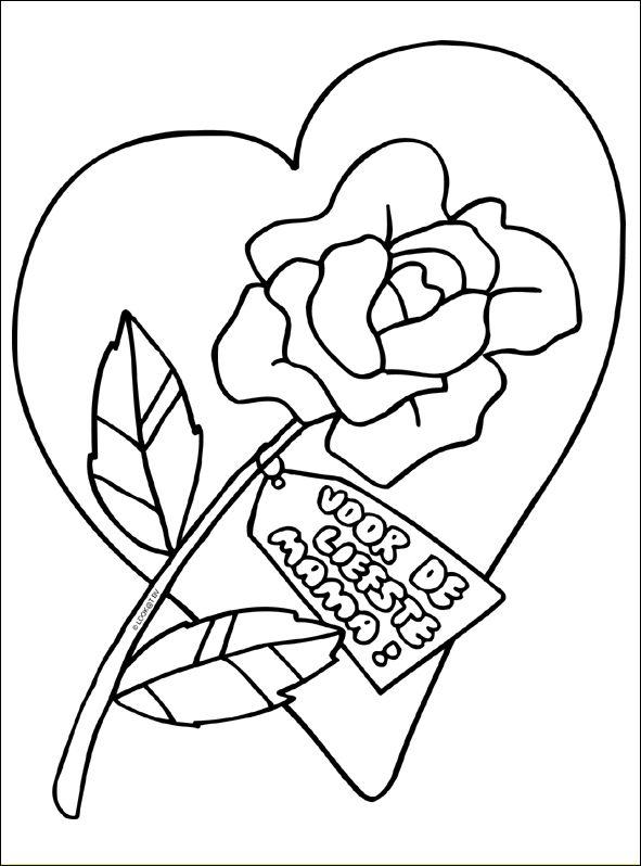 Voor De Liefste Mama Moederdag Kleurplaten Pinterest