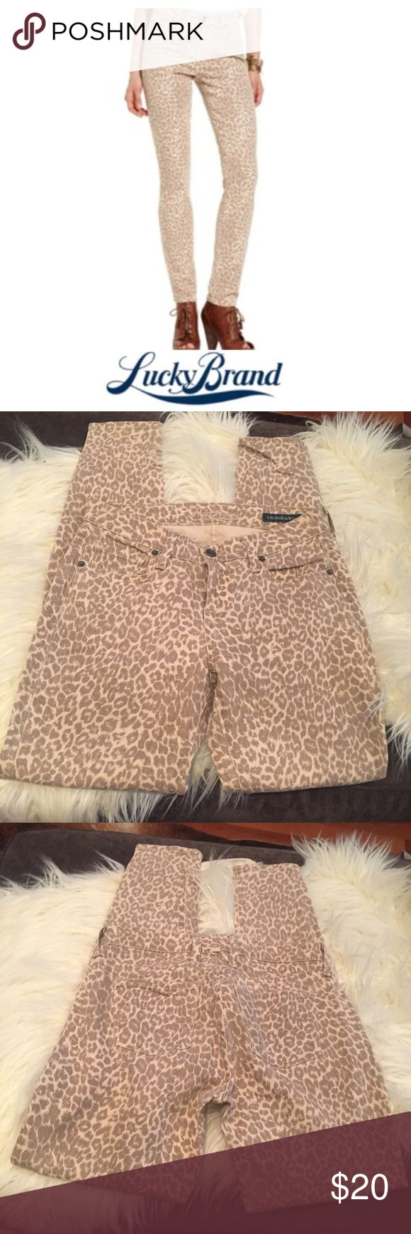 Lucky Brand Legend Sofia Leopard Print Skinny Jean Lucky Brand Legend Sofia Leopard Print Skinny Jean. 29 inch inseam. Ankle. 8 inch rise, mid rise. Gently worn. Great condition. Size 25 which is a 0. Feel free to make an offer or bundle & save! Lucky Brand Jeans Skinny