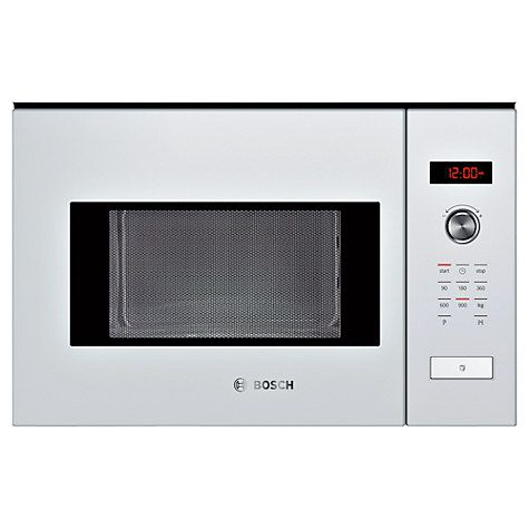 £350 31.7cm deep Buy Bosch HMT84M624B Built-In Compact Microwave, White Online at johnlewis.com