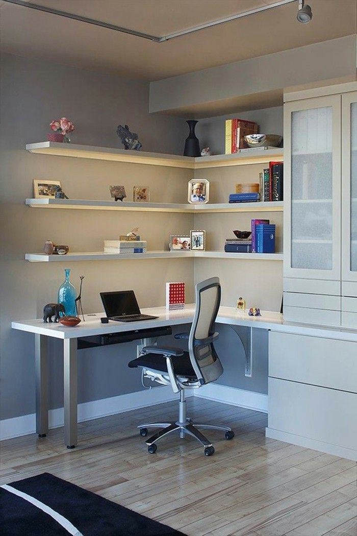 Office Furniture Home Corner Desk Wall Shelf