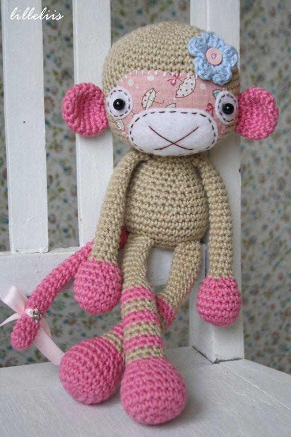 PATTERN Monkey girl crochet pattern amigurumi by lilleliis