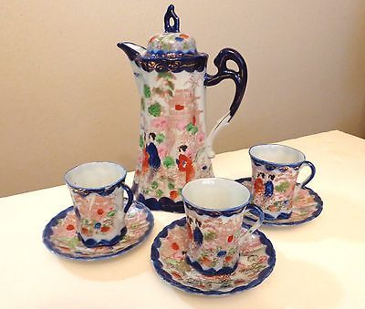 Nippon China Cup With Lid Vintage Antique Tea Set