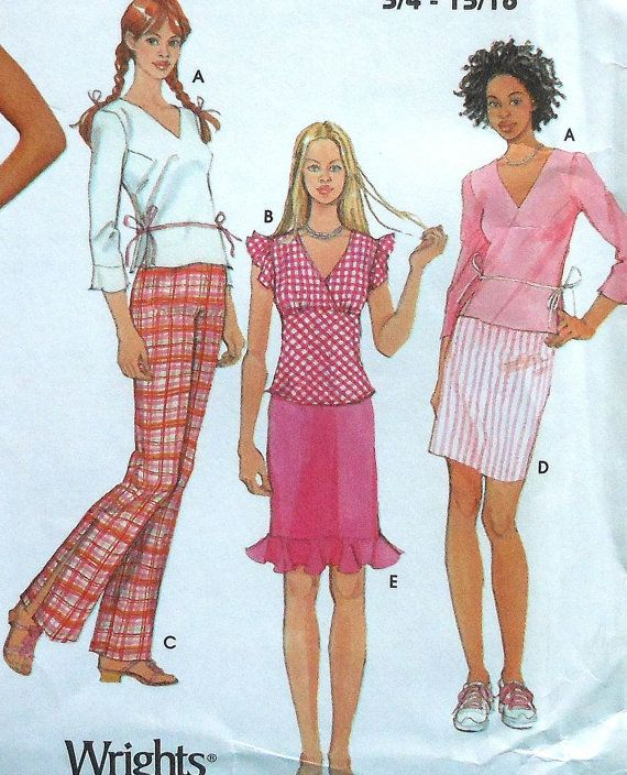 Teen Skirt Top and Pants Sewing Pattern UNCUT Simplicity