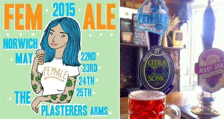 "FEM.ALE BEER FEST CELEBRATES BEER BREWED BY WOMEN Britain's first ""brewster"" beer fest aims to challenge the pervasive assumption that beer is made by men for other men."