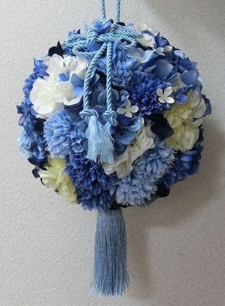 ロイヤルブルーのボールブーケ | ハンドメイドマーケット minne ... ロイヤルブルーのボールブーケ