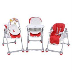 BREVI Chaise haute B-FUN 3en1 Rouge