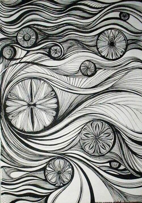 Black & White design drawing art