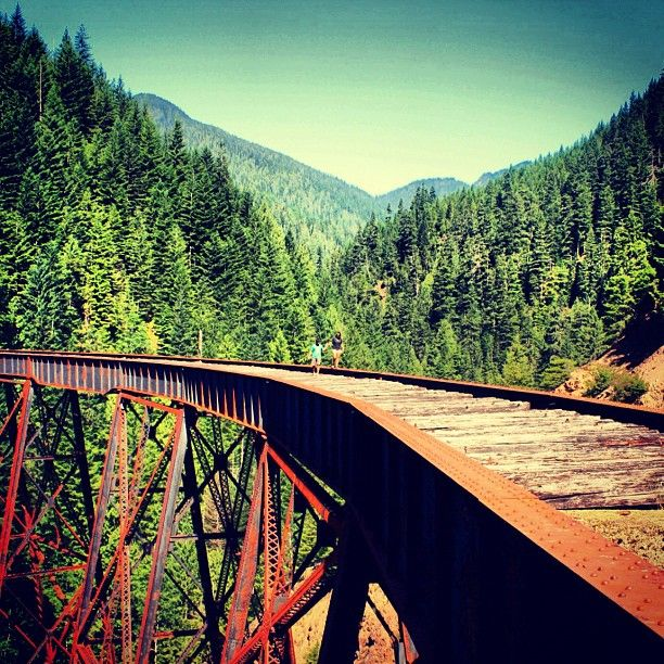 The Kettle Valley Railway in the #Okanagan. ♥ Loved and pinned by www.ductworks.ca