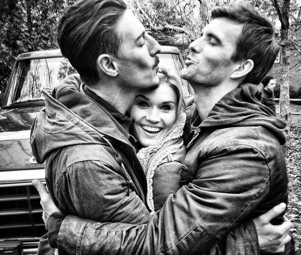 Eric Balfour - Emily Rose - Lucas Bryant. Cute picture! part of a memory....Cast of the tv show Haven...