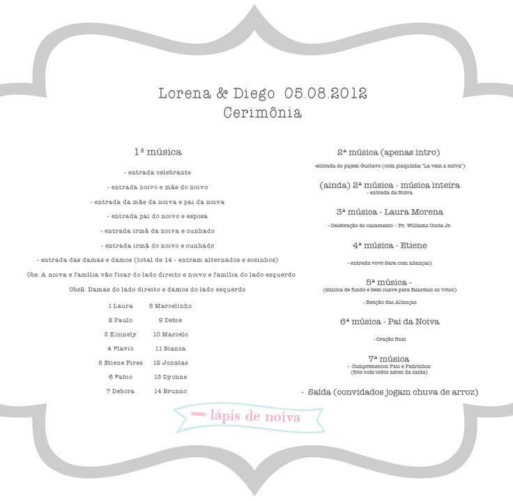 organização da cerimônia — Lápis de Noiva l Blog de Casamento