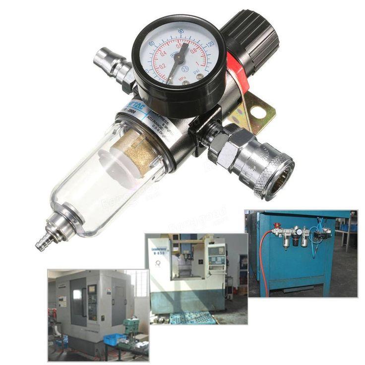 AFR-2000 1/4 Air Compressor Filter Water Separator Trap Regulator Gauge Tracked