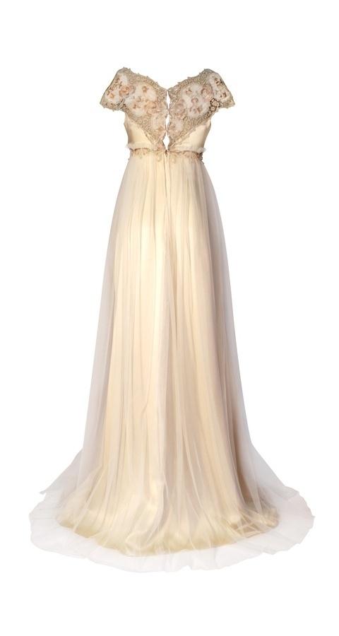 Emma Wedding Dress Back Claire Pettibone Continuing