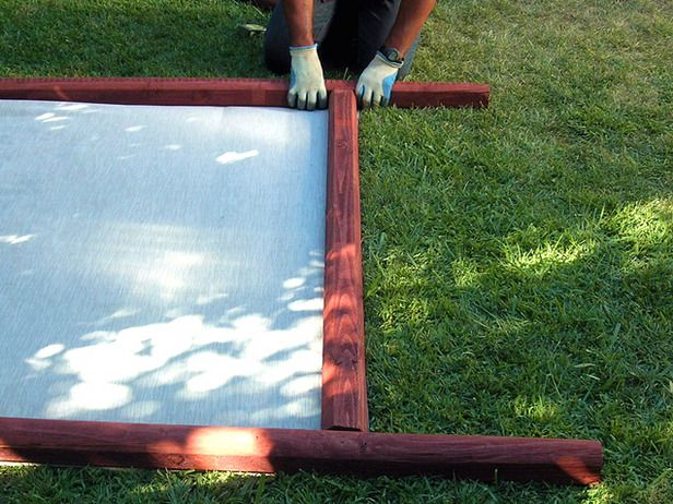 How to make a decorative fabric fence larger how to for Decorative patio privacy screens
