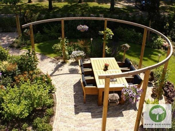 17 beste afbeeldingen over voor in de tuin op pinterest houtopslag tahiti en buitenopslag - Bank voor pergola ...