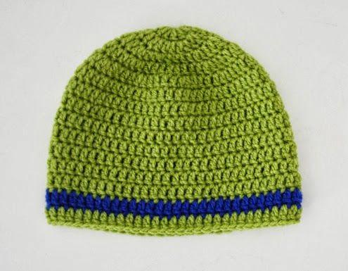 Crochet baby beanie pattern