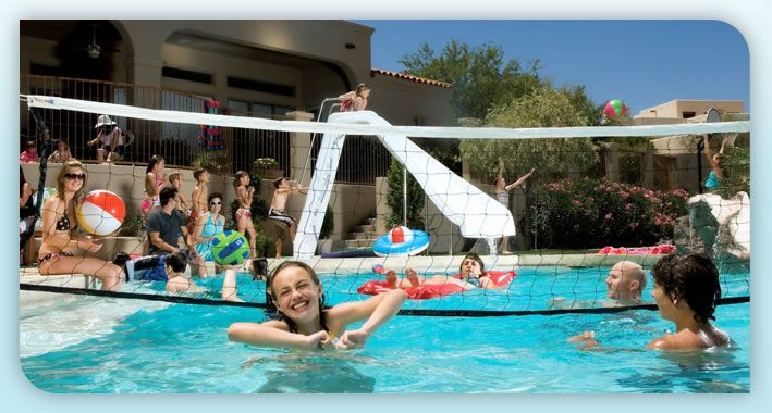 Swimming Pool Basketball Swimming Pool Volleyball Interfab Inc Pool Furniture Pinterest