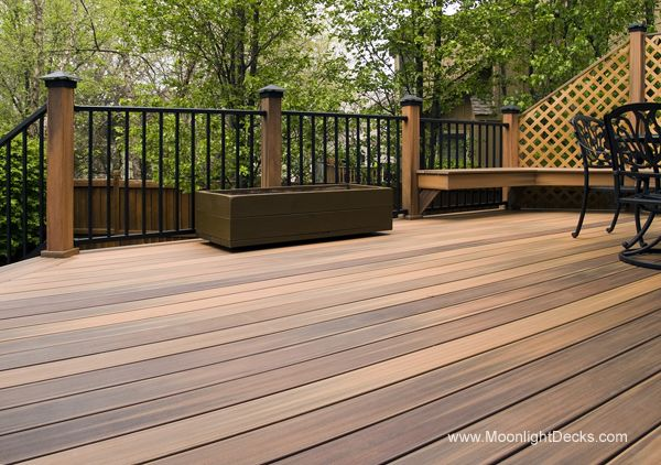 Deck lights using low voltage lighted post caps under railing LED lights and step & 703 best Deck Lighting images on Pinterest | Deck lighting ...