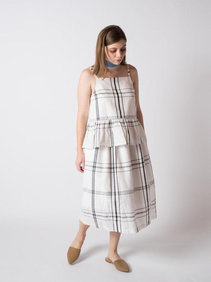 SWAY SKIRT STRIPE #sibedthreads #sibedclothing #linen #madeinNewZealand #womansclothing