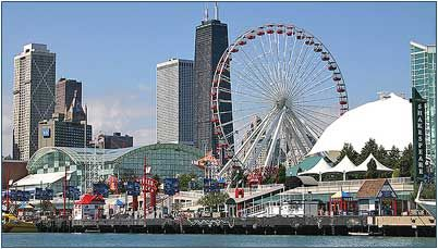 Navy Pier - great place for the family.  Good eats, fun activities, shopping, boat rides, live music, and fireworks!