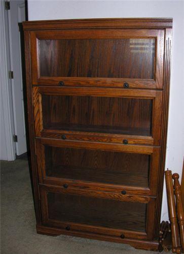4 Shelf Barrister Bookcase Oak 60 Inches Tall