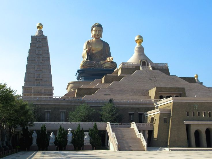 A seated Big Buddha (2011) is a feature of the Fo Guang Shan Buddha Museum near Kaohsiung, Taiwan.
