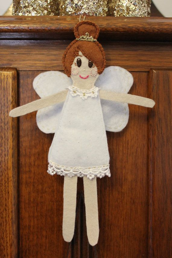 Lily Christmas Fairy Ornament by PuddleducklaneAgain on Etsy