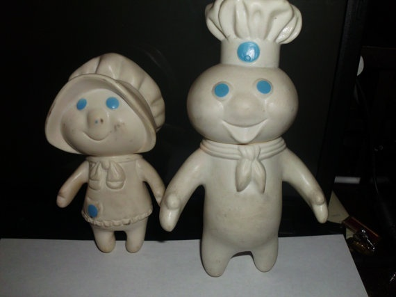 I used to have these!  Vintage Pillsbury Dough Boy and Girl      From paigegard