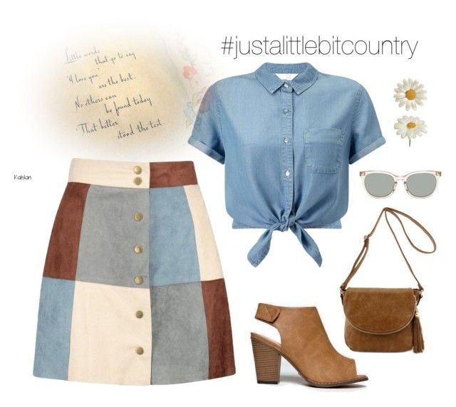 #justalittlebitcountry by lorainejh on Polyvore featuring polyvore, fashion, style, Miss Selfridge, Boohoo, Chase & Chloe, country and clothing
