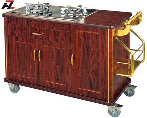 Mobile Food Cooking Carts with SS Handle -Kitchen Cart