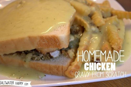 homemade chicken gravy from scratch recipe | Chefthisup