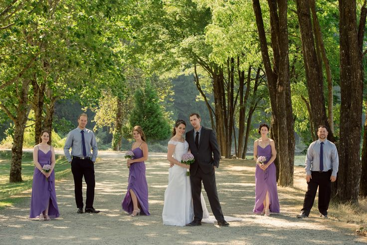 Three Leaf Photography | Abbotsford Chilliwack Langley Wedding Photographers - Bridal party in purple and gray at Harrison Hot Springs Resort and Spa