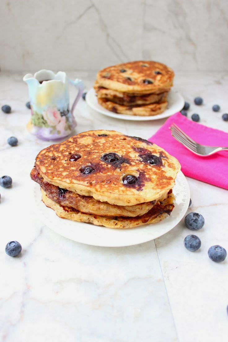 Blueberry Multi-Grain Yogurt Pancakes | Stew or a Story | Pinterest
