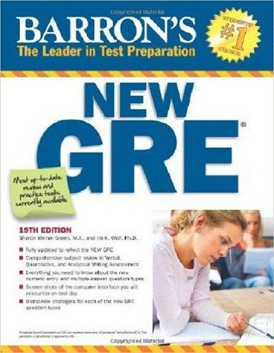 Download Barrons GRE Test Preparation Book 19th Edition