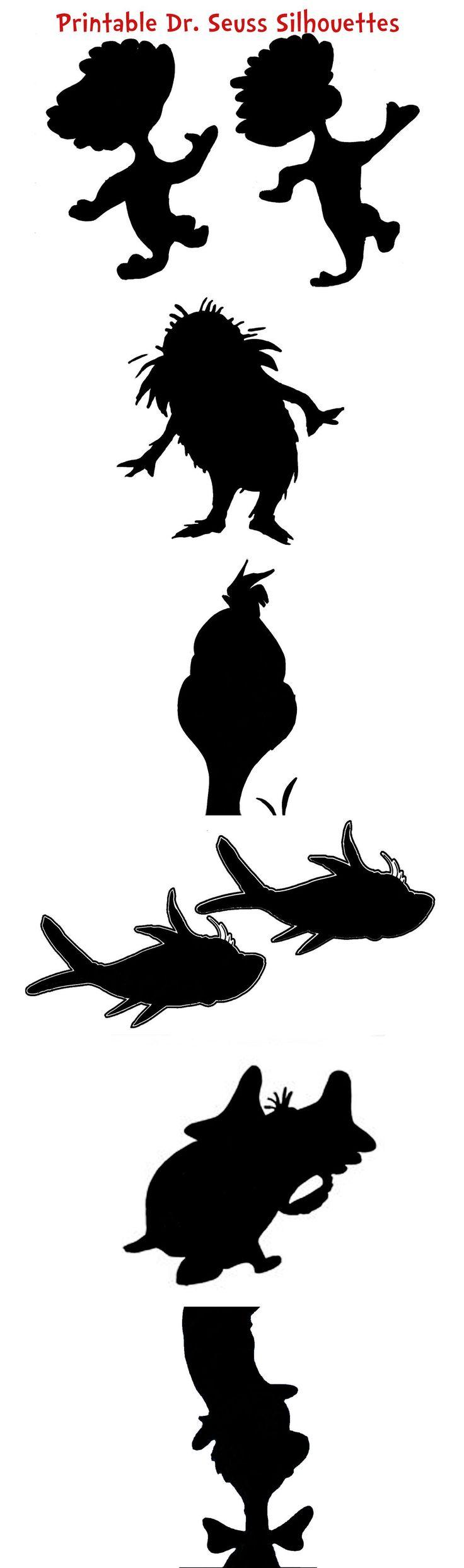 silhouettes dr seuss